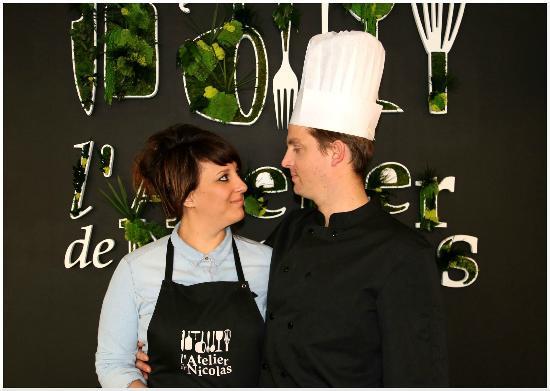 Gérants : Audrey et Nicolas restaurant l'Atelier de Nicolas
