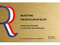 Nicolas Epiart Restaurant l'Atelier de Nicolas Maître Restaurateur